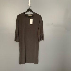 Luna Detail 3/4 Sleeve Dress Grey Size XSmall